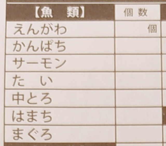 築地玉寿司食べ放題メニュー1